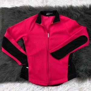nike pink and black sports jacket